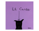Le Chien Posters by Brian Nash