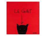 El gato, en francés Posters por Brian Nash
