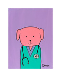 Pink Dog Doc Art by Brian Nash