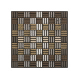 Basket Weave Triple Play (Neutrals) Giclee Print by Susan Clickner