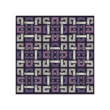 Large Knotted Weave (Purple) Giclee Print by Susan Clickner