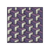 Three Part Tumbling Blocks (Purple) Giclee Print by Susan Clickner