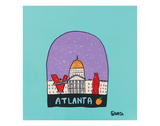 Atlanta Snow Globe Prints by Brian Nash