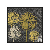 Dandelions on Circles Linked (Yellow) Giclee Print by Susan Clickner