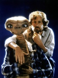 E.T. 1982 Directed by Steven Spielberg Director Steven Spielberg and E.T. Photographic Print