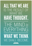 What We Think We Shall Become Buddha Photo