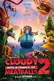 Cloudy With a Chance of Meatballs 2 Advance Movie Poster Plakater