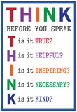 Think Before You Speak Plakat