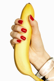 Banana and Red Nails II Photographic Print by Arthur Belebeau