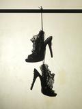 High Heels Ruffle Silhouette Reprodukcja zdjęcia autor Graeme Montgomery