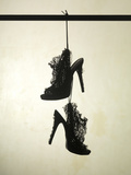 High Heels Ruffle Silhouette Photographic Print by Graeme Montgomery