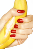 Banana and Red Nails I Lámina fotográfica por Arthur Belebeau