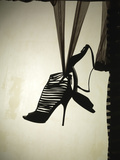 Strappy Shoe Silhouette Photographic Print by Graeme Montgomery