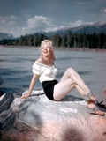 River of No Return 1954 Directed by Otto Preminger on the Set, Marilyn Monroe Photographic Print