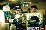 Breaking Bad - Walter and Jesse Cooking TV Poster Prints