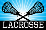 Lacrosse Blue Sports Plastic Sign Wall Sign