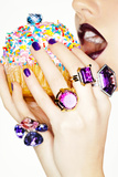 Jewels and a Cupcake Photographic Print by Arthur Belebeau