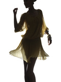 Silhouette of a Woman Photographic Print by Graeme Montgomery