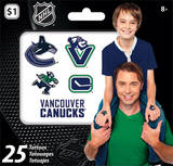 NHL Vancouver Canucks Mini Tattoo Bag Temporary Tattoos