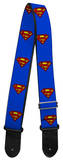 Superman Shield Blue Guitar Strap Novelty