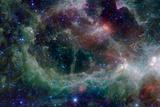 Heart Nebula in Cassiopeia Constellation Space Plastic Sign Signes en plastique rigide