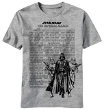 Star Wars - Emperial March Score Tシャツ