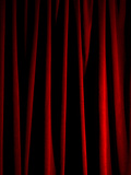 Rich Red Curtain Photographic Print by Graeme Montgomery