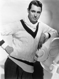 British Born Actor Cary Grant (1904 - 1986), Born Archibald Leach, Wearing a Cricket Sweater Photographie