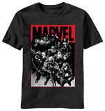 Marvel - Logo Stain T-shirts