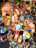 Gemstones and Nails Photographic Print by Graeme Montgomery