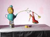 Shoe and Teapot Still Life Fotografie-Druck von Graeme Montgomery