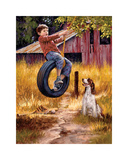 Carefree Days Giclee Print by Jim Daly