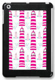 Pink Light House Pattern iPad Mini Case by  Avalisa