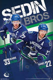Sedin Brothers Vancouver Canucks Posters