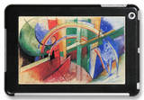 Blue Horse with Rainbow iPad Mini Case by Franz Marc