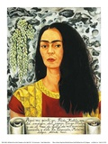 Självporträtt med löshår, 1947 Posters av Frida Kahlo