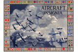Military Planes of the World Aircraft Insignia WWII War Propaganda Print Plastic Sign Wall Sign