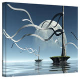 Cynthia Decker 'Ribbons' Gallery Wrapped Canvas Stretched Canvas Print by Cynthia Decker