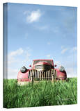 Cynthia Decker 'Red Truck' Gallery Wrapped Canvas Stretched Canvas Print by Cynthia Decker