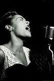 Billie Holiday Signing Music Plastic Sign Znaki plastikowe