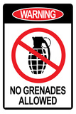 Jersey Shore No Grenades Allowed Sign TV Plastic Sign Wall Sign