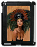 Feathers and Skulls iPad Case by Charmaine Olivia