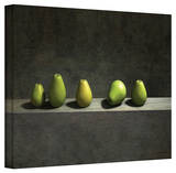 Cynthia Decker 'Five Pears' Gallery Wrapped Canvas Stretched Canvas Print by Cynthia Decker