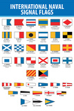 Naval Signal Nautical Flags Transportation Print Plastic Sign Plastic Sign