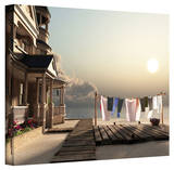 Cynthia Decker 'Laundry Day' Gallery Wrapped Canvas Gallery Wrapped Canvas by Cynthia Decker