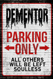 Dementor Parking Only Sign Plastic Sign Plastic Sign