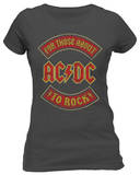 Juniors: AC/DC - About To Rock Banner T-Shirts