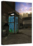Cynthia Decker 'Phone Booth' Gallery Wrapped Canvas Stretched Canvas Print by Cynthia Decker