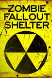 Zombie Fallout Shelter Sign Plastic Sign - Plastik Tabelalar