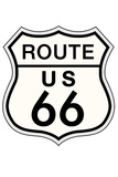 Route 66 Sign Travel Print Plastic Sign Plastic Sign
